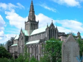 View of St. Mungo's Cathedral (Glasgow) from the Necropolis